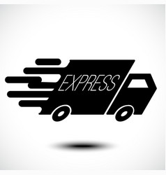 express delivery icon vector image