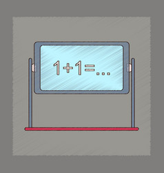 flat shading style icon school blackboard vector image