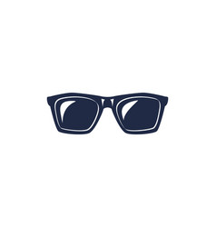Geek glasses isolated icon vector