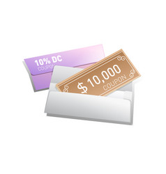 gift voucher with white envelope vector image