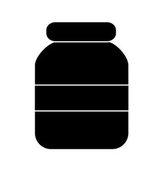 glass jar with cap empty icon vector image