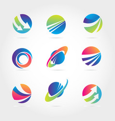 global finance company business logo template vector image