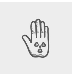 Hand and some object sketch icon vector image