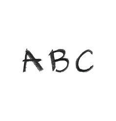Hand drawn chalk abc vector