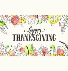 Happy thanksgiving poster vector