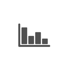 histogram chart simple icon financial graph vector image