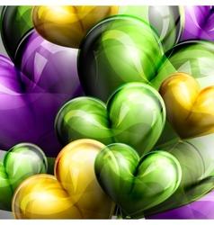 holiday of flying balloon hearts vector image