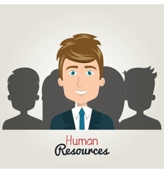 human resources character man elegant with suit vector image