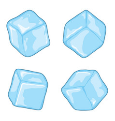 Ice cubes vector