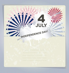 Independence Day card or background July 4 vector