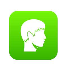 man head icon digital green vector image