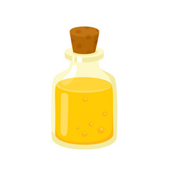 massage oil in glass bottle with cork spa salon vector image