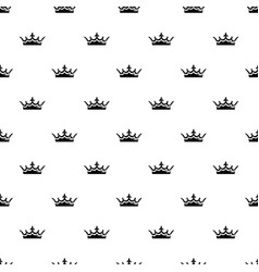 medieval crown pattern seamless vector image