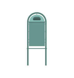 metal trash bin icon flat design vector image