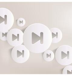 Next track web icon vector image