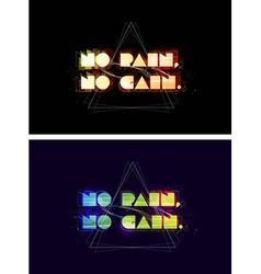 No pain no gain typography vector