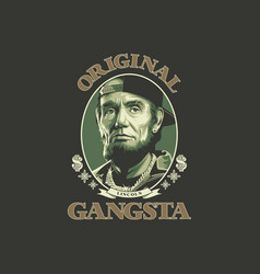 Original gangsta vector