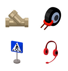 Plumbing transport and other web icon in cartoon vector