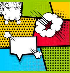 Pop art strip comic text speech bubble bomb vector