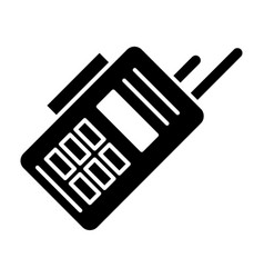 portable radio set solid icon electronic vector image