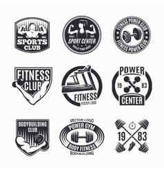 Power Fitness Logo Set vector
