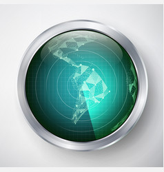 radar south america futuristic user vector image