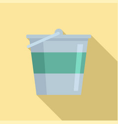 reconstruction metal bucket icon flat style vector image