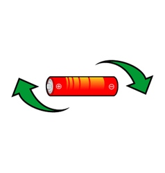 recycle battery symbol vector image