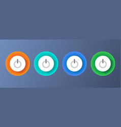 round push buttons vector image