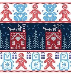 Scandinavian Nordic Christmas seamless pattern vector