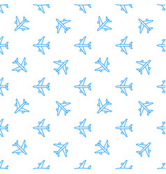 seamless aircraft pattern flying line vector image