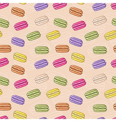 Seamless macaroon background vector image