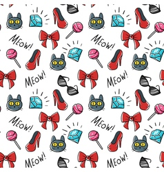 seamless pattern of fashionable patches Modern vector image