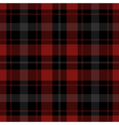 Seamless red black tartan with white stripes vector