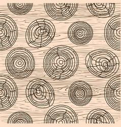 Seamless wood grain pattern wooden texture vector