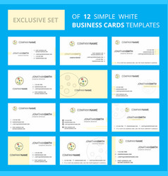 Set of 12 bacteria plate creative busienss card vector