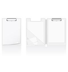 set of white blank folder vector image