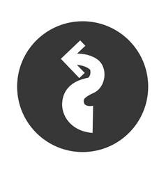 shape arrow curve vector image