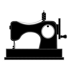 Silhouette of the sewing machine vector image