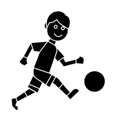 soccer player icon black vector image