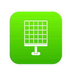 solar panel icon digital green vector image