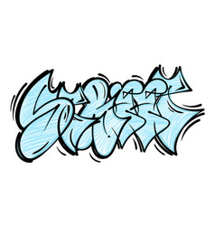 street graffiti lettering vector image