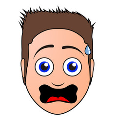 surprised man avatar vector image