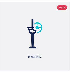 Two color martinez icon from drinks concept vector
