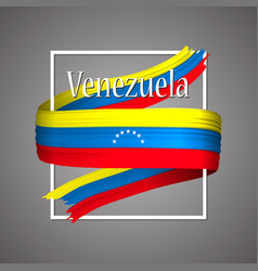 venezuela flag official national venezuelas 3d vector image