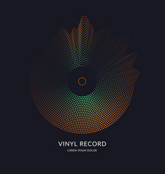 Vinyl record music on dark vector