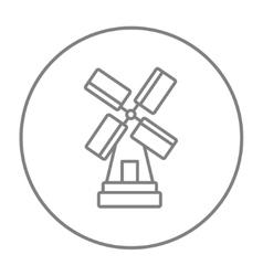 Windmill line icon vector image