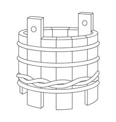 Wooden tub vector