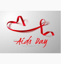 World aids day concept aids awareness realistic vector