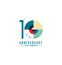 Year anniversary celebration geometric template vector